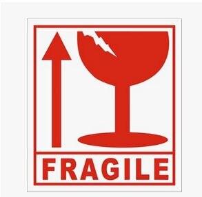 100 Uds pegatinas frágiles mercancías apiladas suavemente internacional express logistics etiquetas 6x7cm