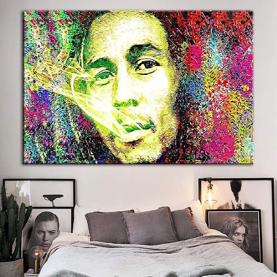 Lienzos impresiones HD, arte de pared, pintura, cantante Modular Bob Marley, imagen moderna, decoración del hogar, póster para el marco de la sala de estar