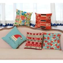 Coussins décoratifs pour canapé de noël 45x45 cm   Motif classique de flocon de neige, motif de coussin de voiture, décoration de maison