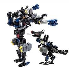 299 Uds 2 en 1 deformación Serie de robots dinosaurio robot de bloques de construcción ladrillos de juguete