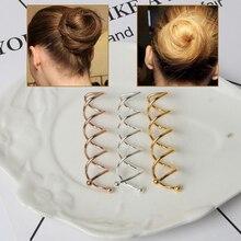 10 pièces filles cheveux accessoires torsion pinces à cheveux femmes spirale Spin vis épingles à cheveux épingles à cheveux pour les femmes chignon fabricant chapeaux