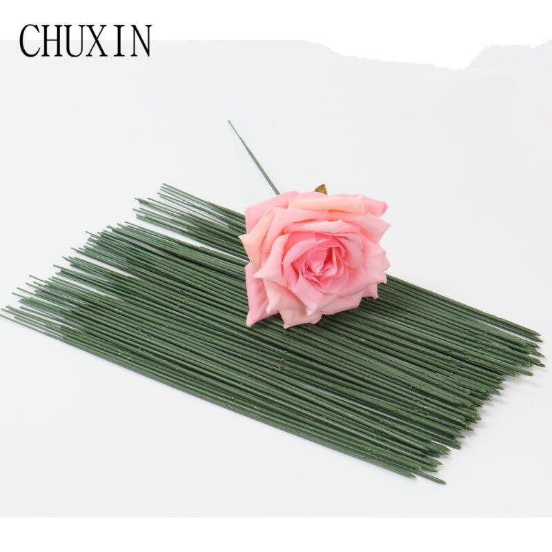 50 pçs/lote 17/25/arranjo 40 centímetros haste da flor de Plástico flor artificial cabeça acessório Galhos Florista Artesanato para decoração do casamento