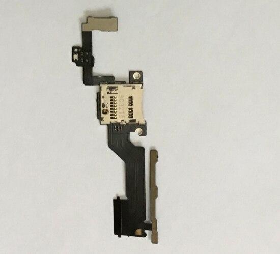 Para HTC One M9PW M9 + M9 Plus Sensor de volumen de potencia Cable flexible ranura para tarjeta de memoria SD Socket Holder pieza de repuesto