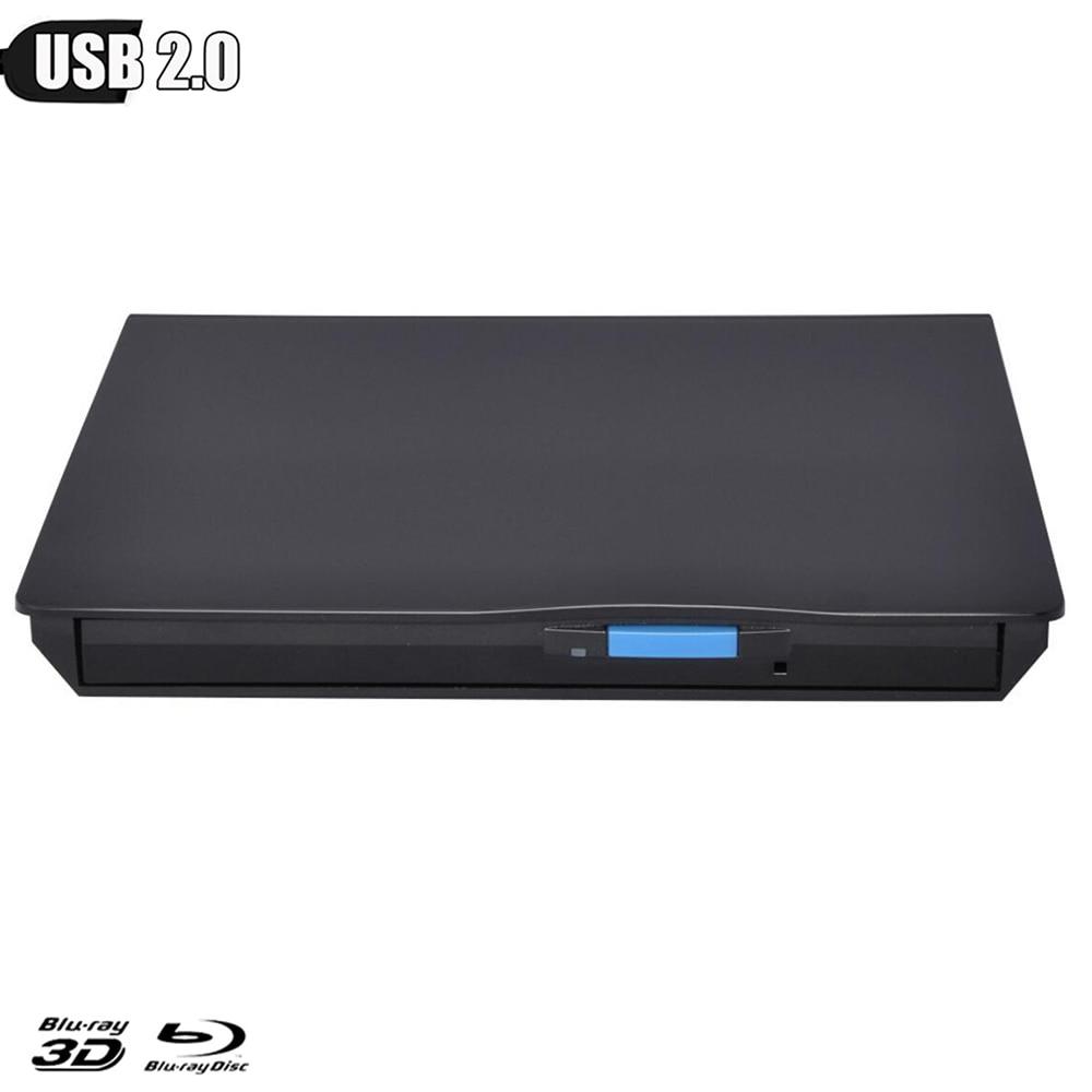 Externa Blu-ray Slim USB2.0 grabadora Blu-Ray BD-RE CD/DVD RW escritor jugar 3D Blu-ray 4K disco para Macbook/Windows/Linux/PC