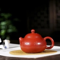 yixing undressed ore dahongpao recommended 190 ml mixed batch of kung fu tea set pomelos kung fu tea set the teapot