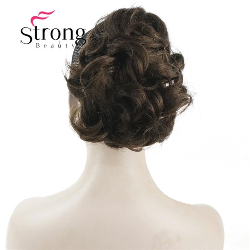 StrongBeauty קצר מתולתל קליפ טופר קוקו הארכת שיער סינטטי פאה 80g עם לסת/טופר קליפ