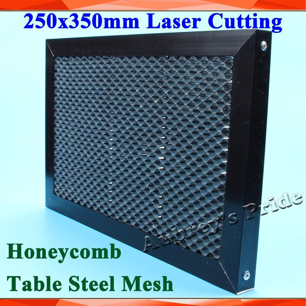 250x350mm de nido de abeja de láser máquina de panal de miel CO2 grabador láser de malla de acero para estampado de curva de corte máquina