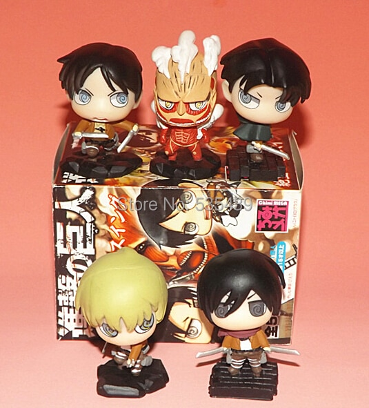 Yeni sıcak 5 adet/takım 6cm Titan s versiyonu PVC aksiyon figürü oyuncakları noel hediyesi oyuncak