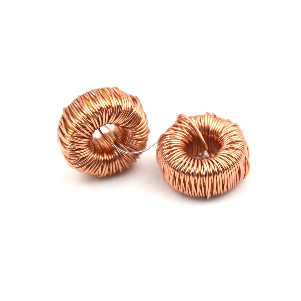 Bobina de bobinado de alambre de inductancia magnética 470UH 3A Inductor Toroidal para LM2596 Inductor de núcleo Toroide 10 piezas