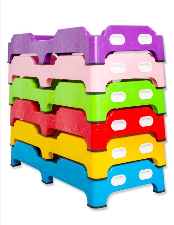 Kindergarten equipment children's plastic lunch noon break bed thicken kid's beds