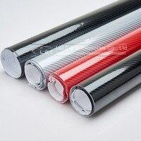 Car Styling high glossy 5D black red silver carbon fiber vinyl film carbon fiber car wrap sheet Roll film tool Car sticker Decal