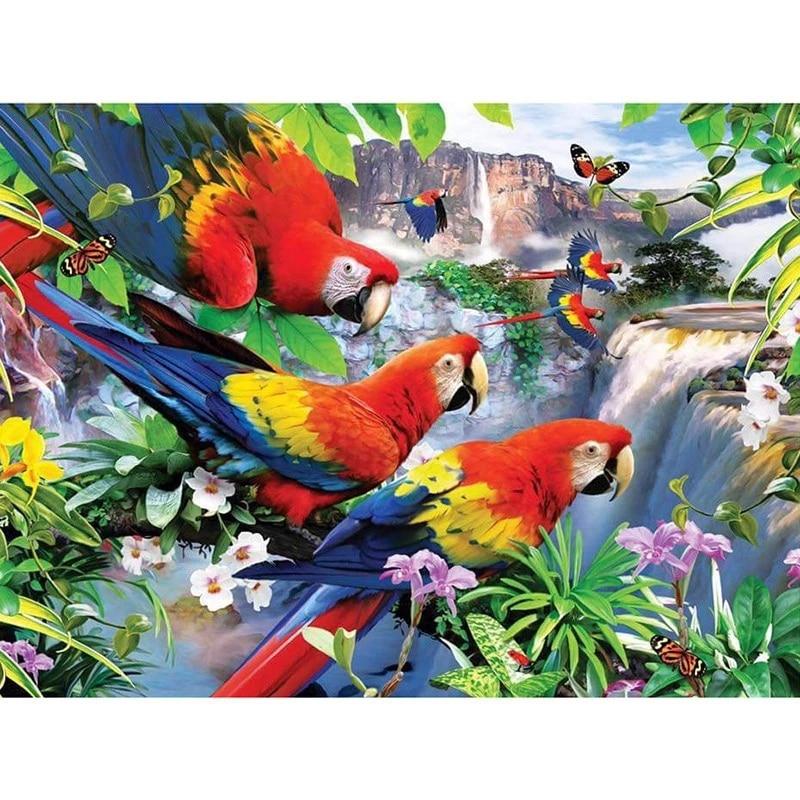 Набор для алмазной вышивки «попугай», набор для домашнего декора «сделай сам», абстрактная картина маслом из смолы, хобби