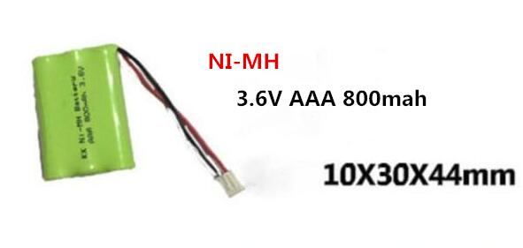 NEW NI-MH 3.6V AAA 800MA nimh rechargeable battery 3.6V AAA800mah 3.6V800MAh Cordless phone batteries 2.54 plug