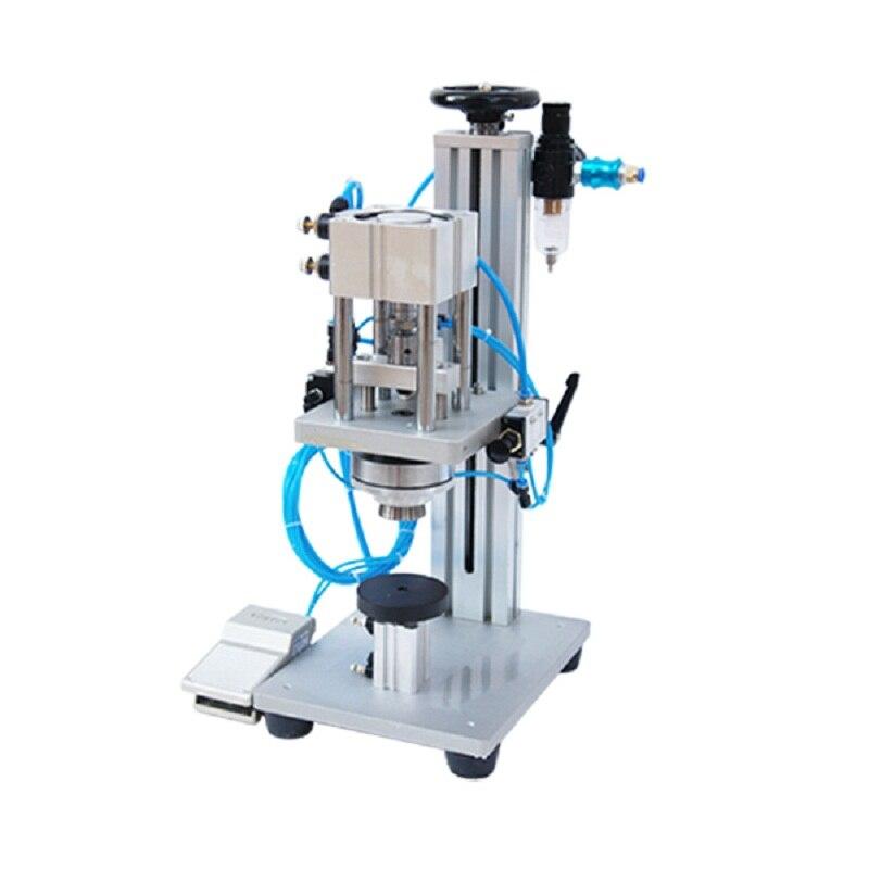 Máquina neumática de prensado de perfume con pedal