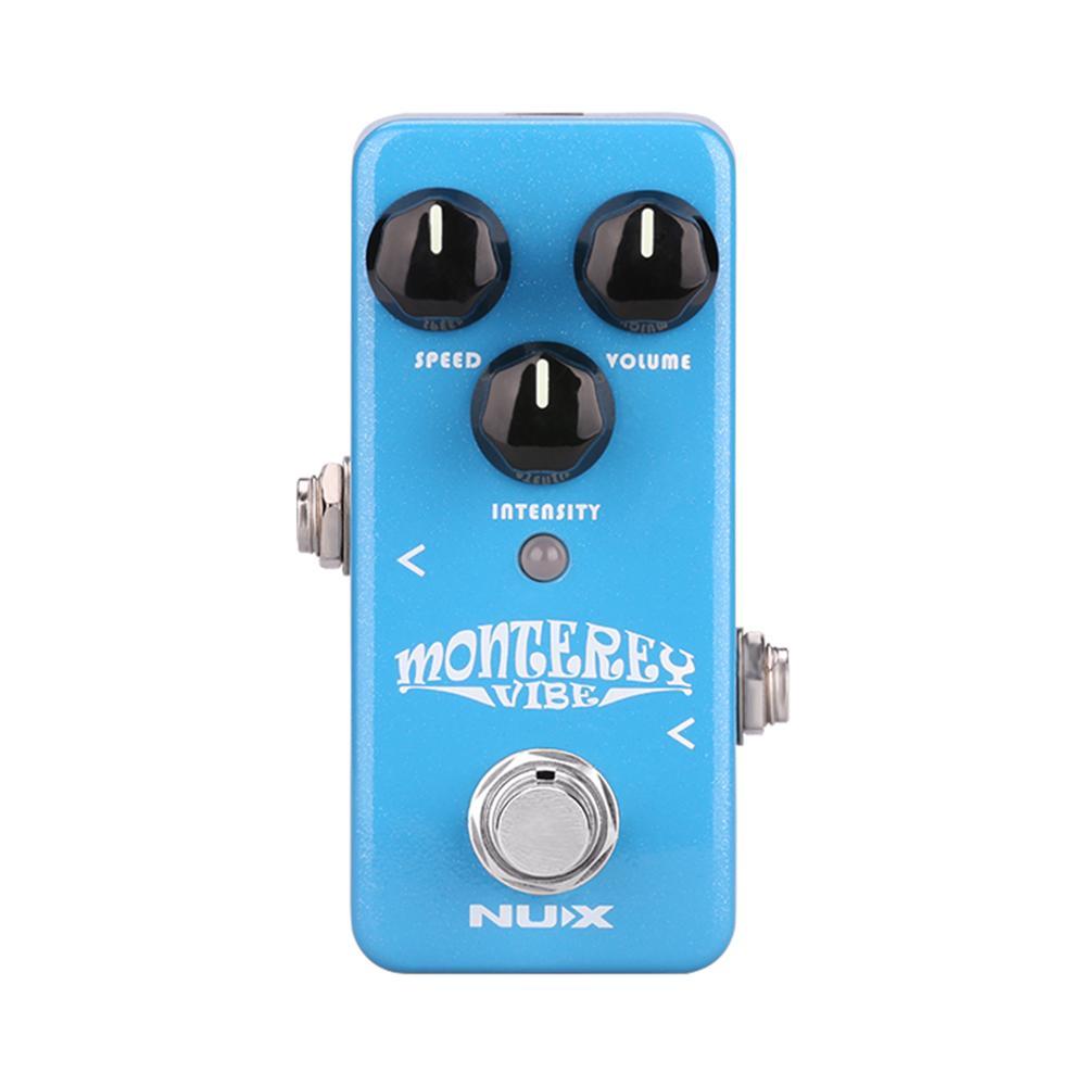 Pedal de efectos de guitarra NUX Monterey Vibe, sonido psicodélico complejo, serie Mini Core Stompbox Chorus, efectos Phaser de altavoz rotativo