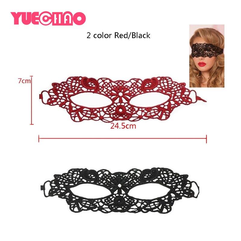 YUECHAO Sexy porno Babydoll lencería Sexy negro/rojo de encaje máscara erótico lencería Sexy para mujeres, máscaras para fiestas de disfraces