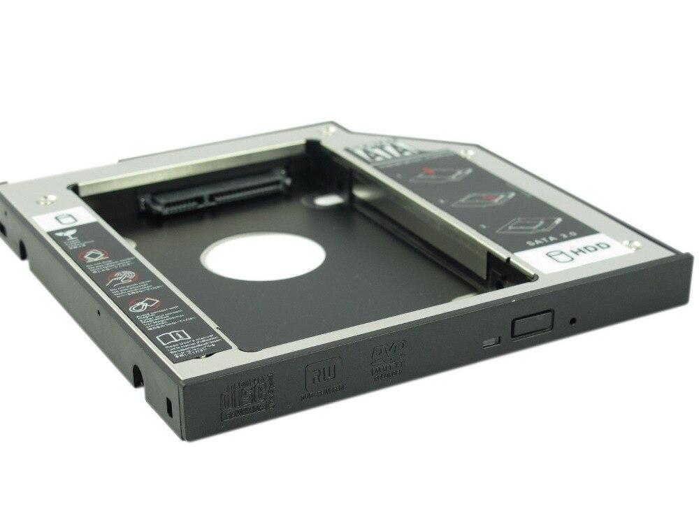 Nuevo disco duro Caddy WZSM 9,5mm 2nd SATA HDD SSD para DELL Latitude E5440 E5540 E6440 E6540 placa frontal extraíble