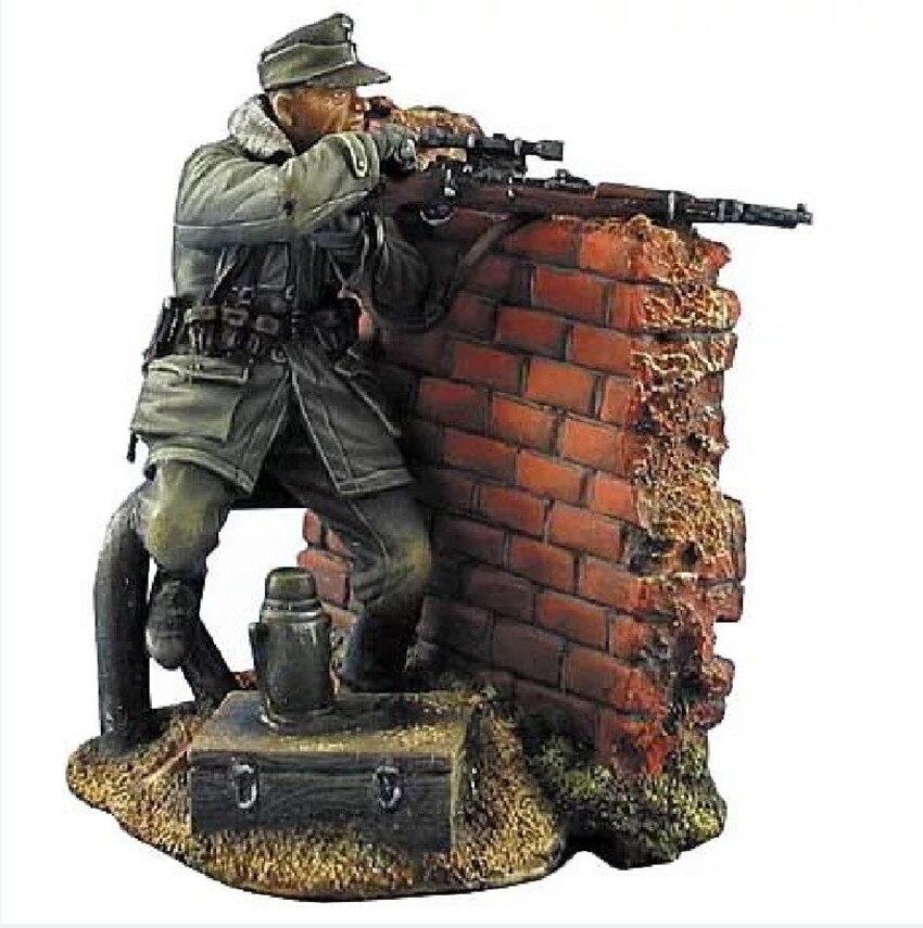 Kit de modèle de figurine en résine 1/35 non peint non assambré 00378 (avec mur)