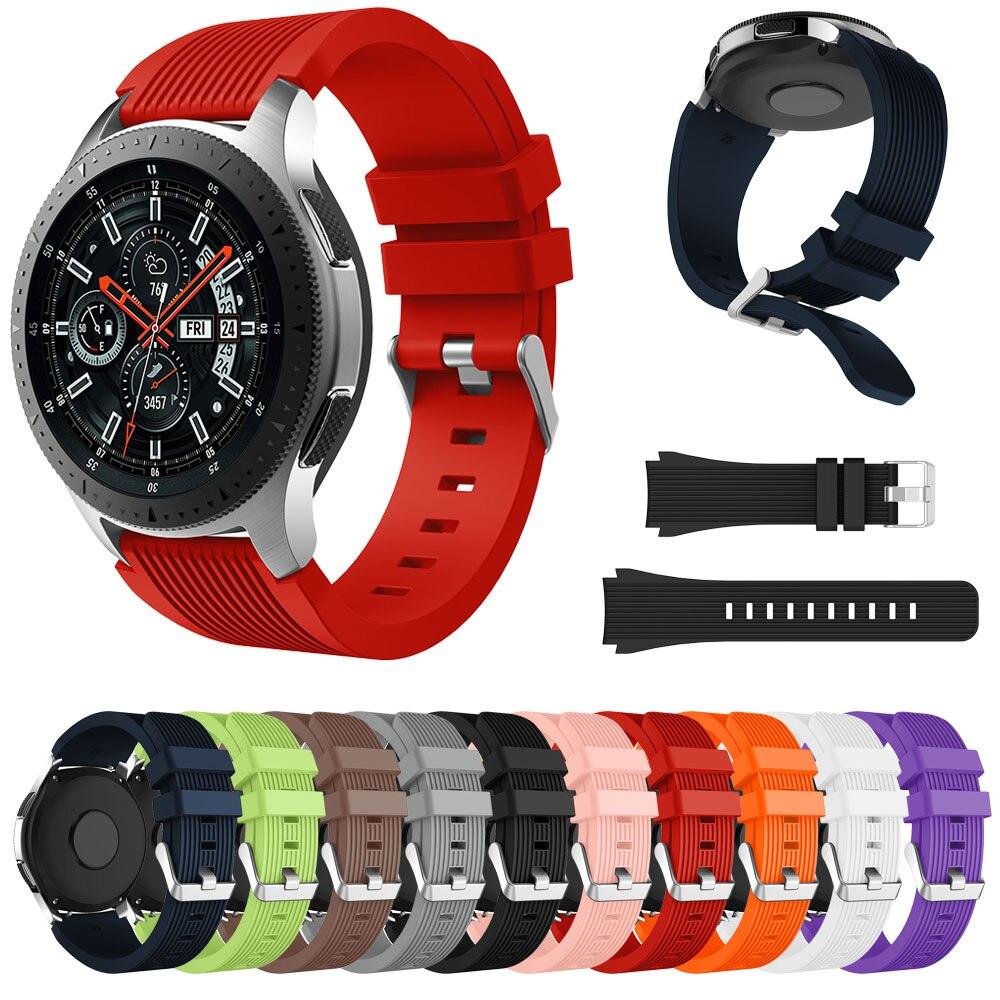 Correa de muñeca de silicona para Samsung Galaxy Watch 46mm SM-R800 Galaxy Watch 42mm SM-R810 reloj inteligente pulsera