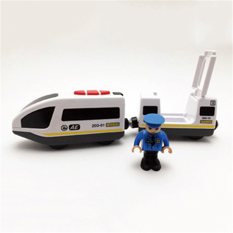 Купить с кэшбэком Toys for Children Remote Control Electric Train Toy Magnetic Slot Compatible with Brio Wooden Track Car Toy Kids Gift