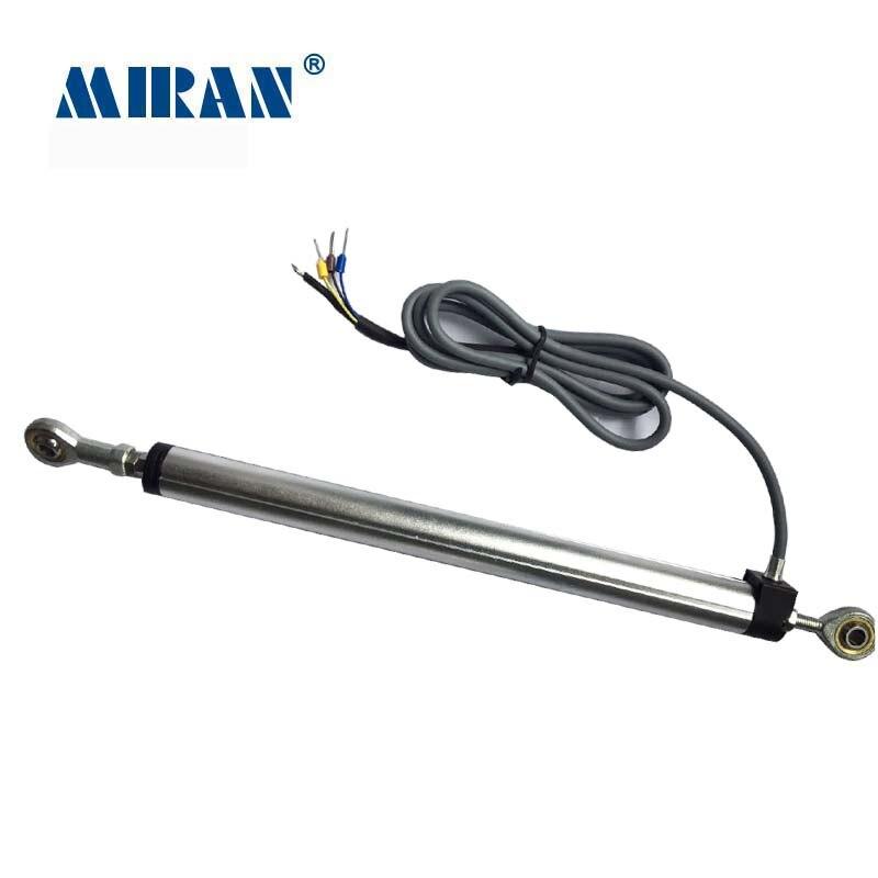 Regla de resistencia lineal con Sensor articulado Miran KPM18-SL-J transductor de desplazamiento de 15mm-300mm más vendidos con juntas Heim