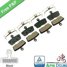 Plaquettes de frein de vélo pour AVID Code R ou pour SRAM CODE R (2011 à maintenant) frein à disque hydraulique, 4 paires, résine noire classe
