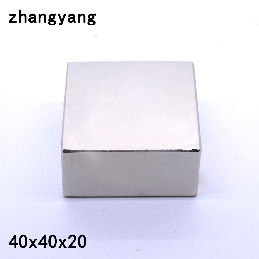 1 قطعة 40*40*20 طين نادر قوي مغنطيس النيوديميوم 40X40X20mm كتلة المغناطيس الدائم 40x40x20 مللي متر المعادن