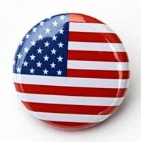 low price custom flag badge wholesale custom american flag button badge top quality custom made usa flag badge pin