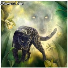 Full Square Diamond 5D DIY Diamond Painting Black panther Embroidery Cross Stitch Rhinestone Mosaic Painting Decor Gift