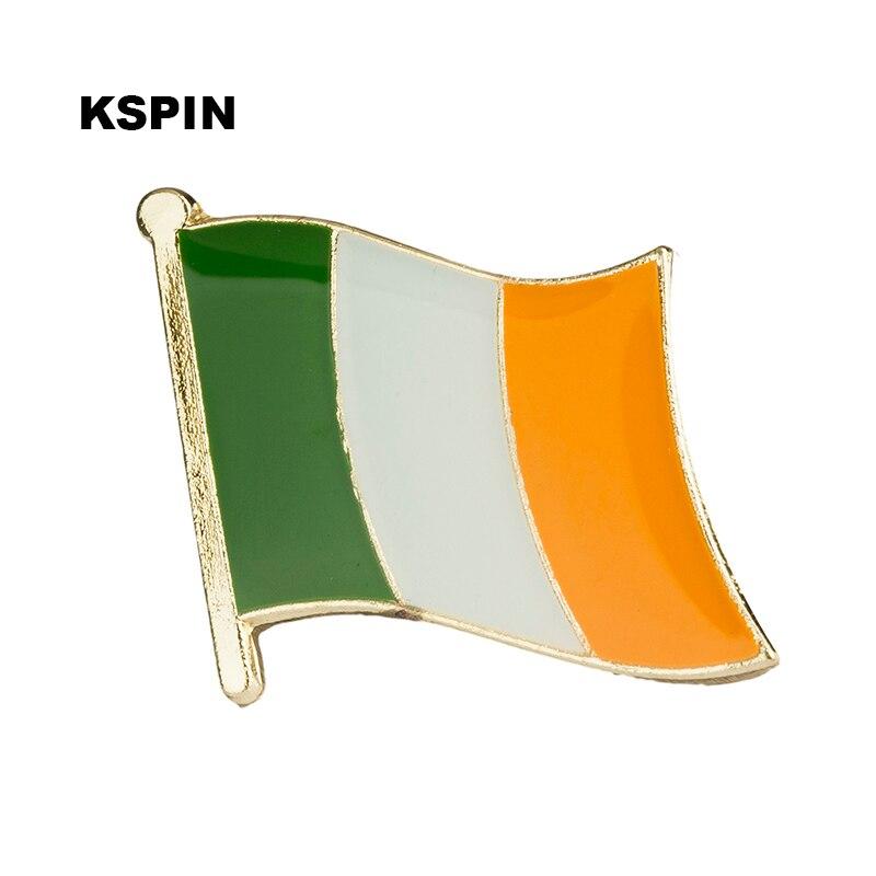 Ireland flag lapel pin badge pin 300pcs a lot Brooch Icons KS-0012