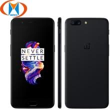 Brand Nieuwe 5.5 inch OnePlus 5 6GB 64GB Mobiele telefoon 4G LTE Snapdragon 835 Octa Core 20MP 16.0MP NFC Vingerafdruk Smartphone