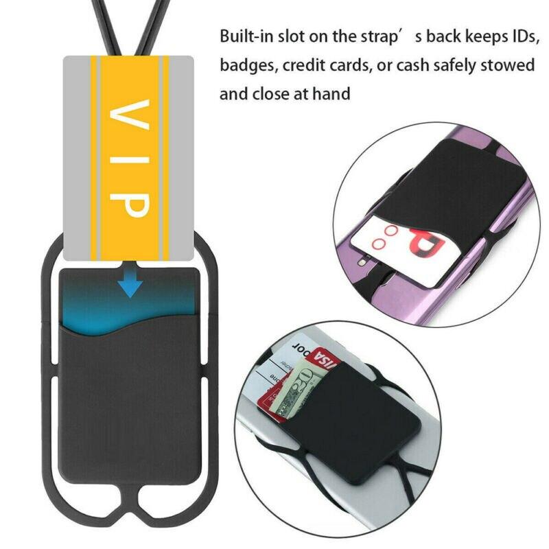 Cordón de teléfono móvil de EE. UU. Correa cubierta universal para teléfonos inteligentes cubierta ID titular collar