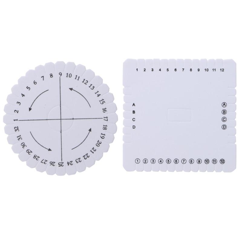 High Quality 2Pcs Round Square Kumihimo Beading Cd Disc/Disk Braiding Braided Plate DIY