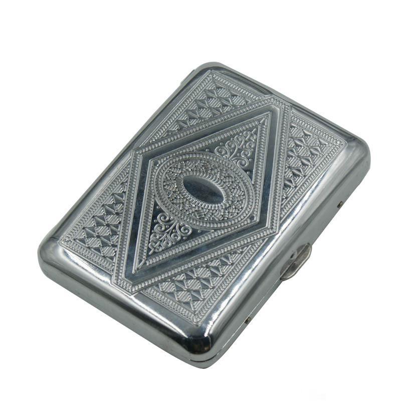 Étui à Cigarettes en alliage daluminium   Boîtier en métal, pour mettre 16 Cigarettes, boîte à Cigarettes en alliage daluminium