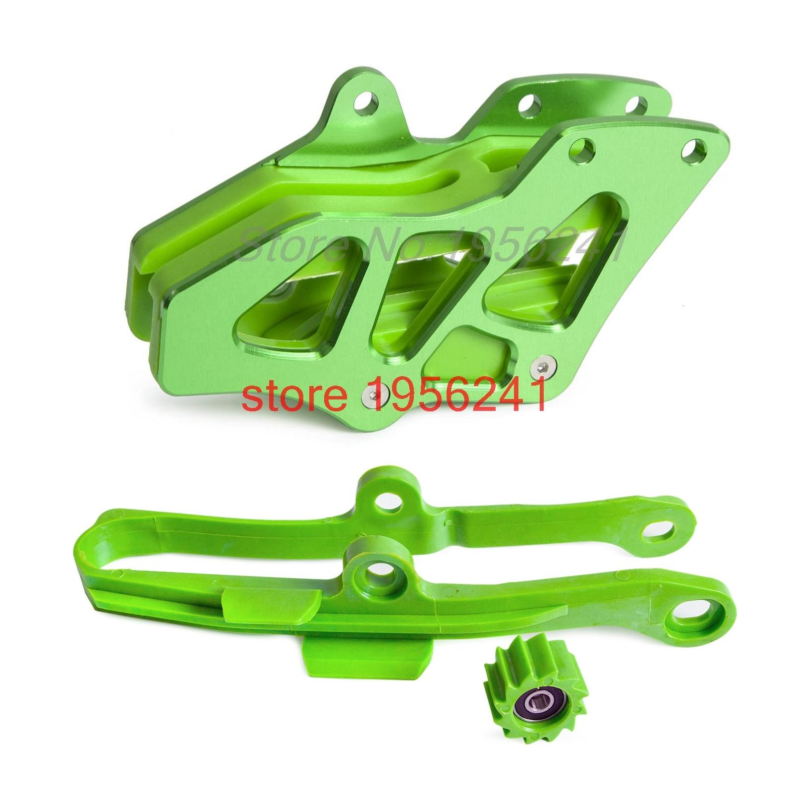 NICECNC cadena Swingarm cadena guía deslizante Protector de rodillo Kit para Kawasaki KX250F KX450F KXF250 KXF450 2009-2016 Durable