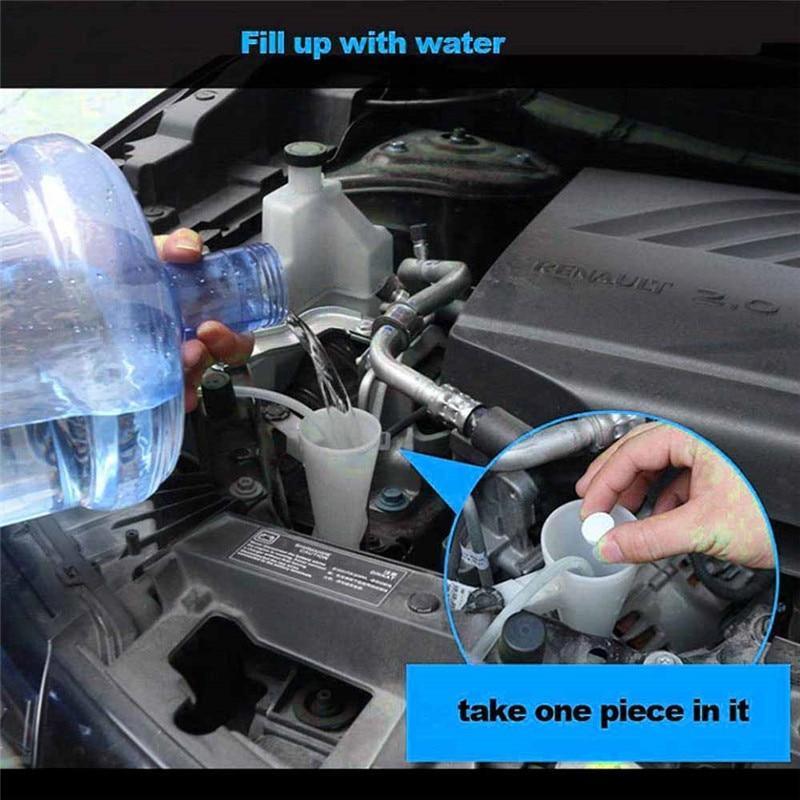 10pc (1pc = 4L) del limpiador de efervescente para espray limpiador de limpiaparabrisas bien coche ventana limpiador de vidrios del parabrisas coche accesorios