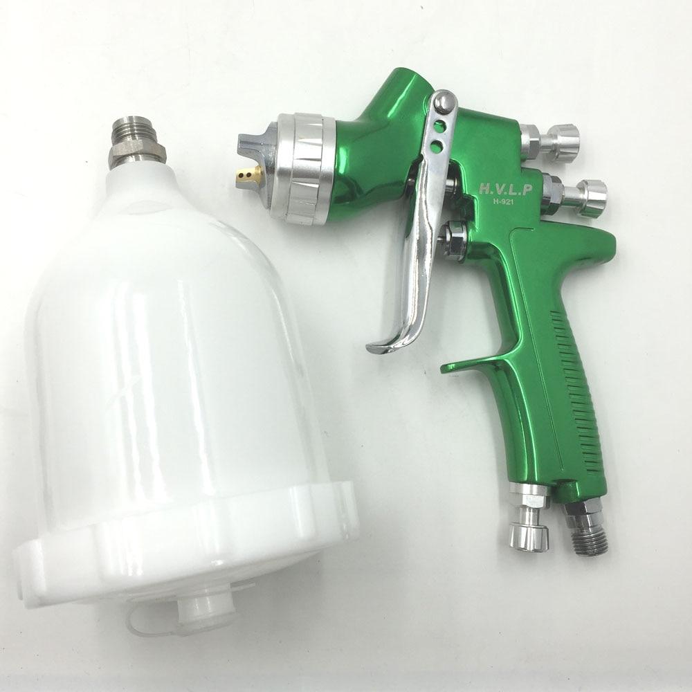 SAT1164 Professional HVLP 600ml 1.3/1.4mm Nozzle Gravity Feed Pneumatic Air Paint Spay Gun For Car Auto Repair Tool Painting Kit