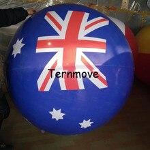 Ballon dhélium de pvc australie avec limpression de drapeau National du japon nouvelle-zélande Canada pour des événements annonçant la montgolfière gonflable