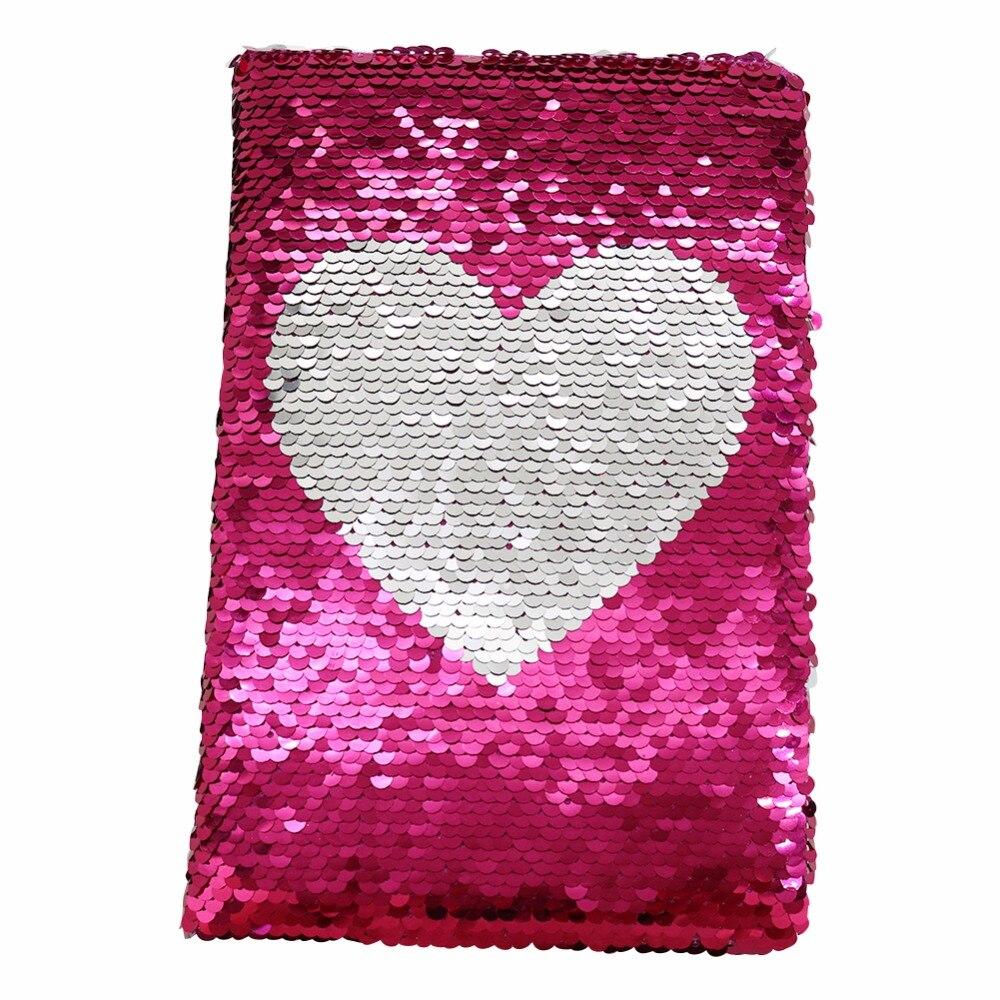 1 шт. изысканный ноутбук в форме сердца с блестками двухсторонний милый