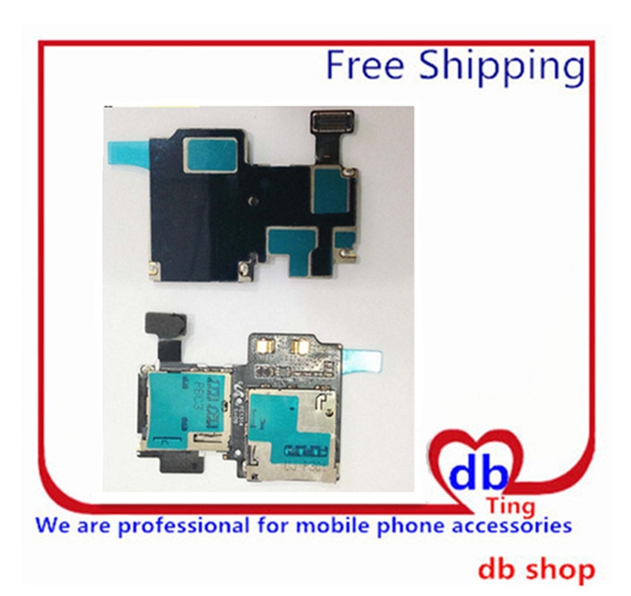 For Galaxy S4 I9500 I9505 Sim Card Holder Micro SD Memory Socket Slot Tray flex cable