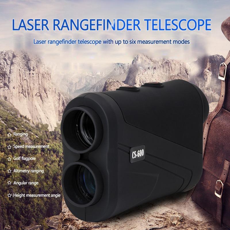 Telémetro de caza para Golf Telémetro Láser, Medidor láser de distancia de 600m, Monocular con medidor de velocidad de escaneo, instrumento óptico