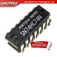 10 stücke 74HC74N 74HC74 SN74HC74N DIP-14 Flip-Flops DUAL D-TYPE POSIVE RAND-TRIG neue original