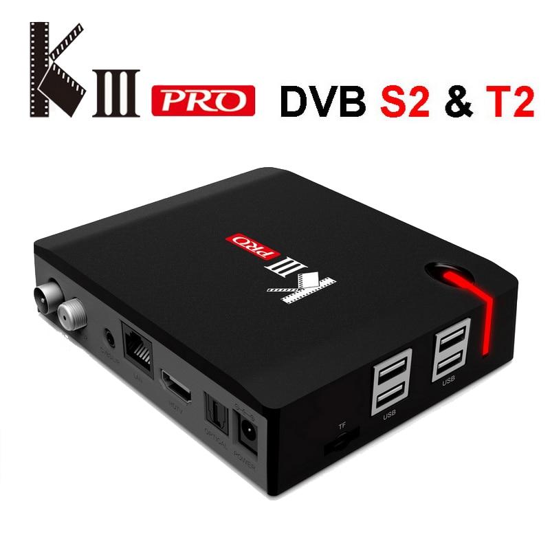 MECOOL matar Pro Android TV Box receptor de TV por satélite DVB S2 T2 DVB-C 3G 16G Amlogic S912 4K 3D Media Player AC Wifi 1000M LAN