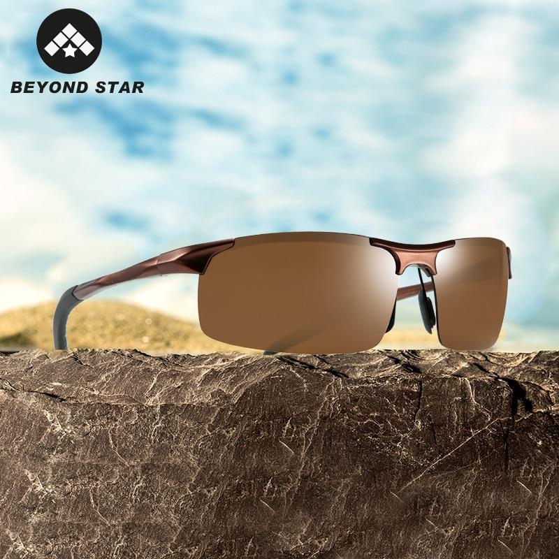 BEYONDSTAR Aluminum Alloy Sunglasses Men Polarized Cycling Sports Black Glasses Winter Snow Driving