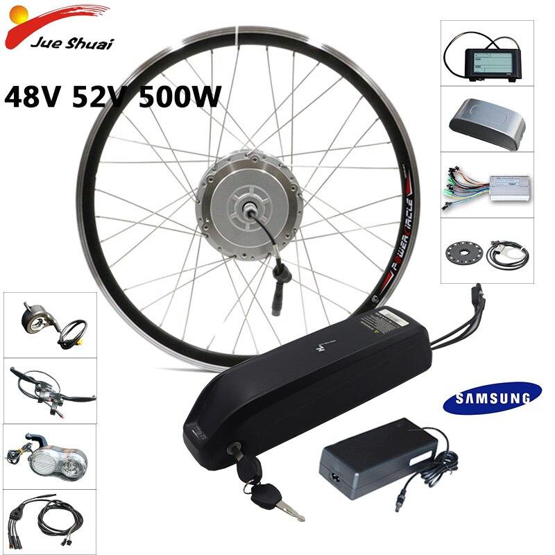 Bafang Ebike Kit 48V 500W Electric Bike Conversion Kit 20''24''26''700C Front Motor Wheel 15ah 18ah Samsung LG Battery ebike kit