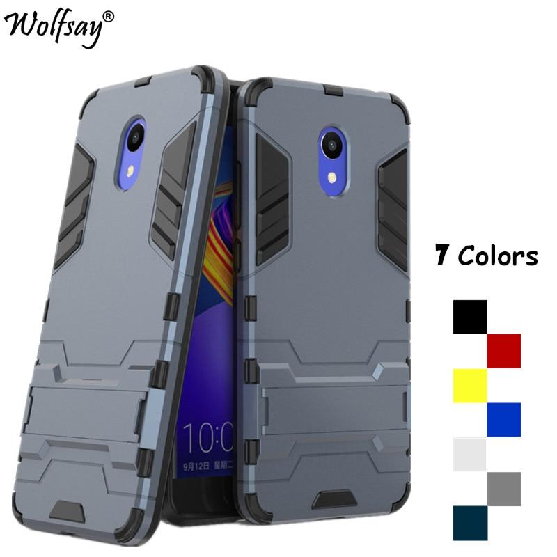 Wolfsay Fundas Meizu M6 Case Cover Shockproof Silicone Armor PC Case sFor Meizu M6 Cover For Meizu M