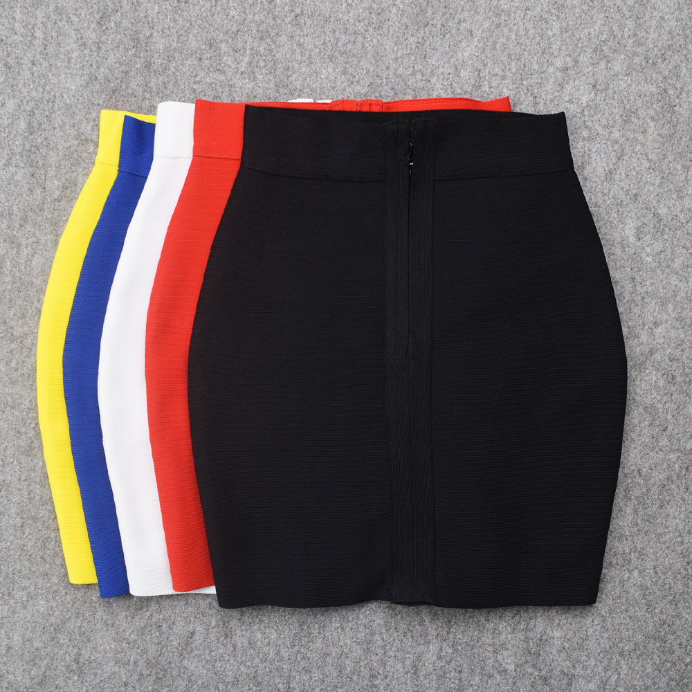 2019 Newest Mini Skirts Elastic Short High Waist Sexy Bodycon Bandage Skirt Girls Women Fashion Ladies Skirts Sheath