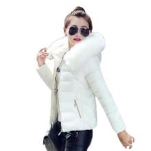 Femmes hiver vestes et manteaux 2020 plus récent Parkas pour les femmes hiver manteaux fausse fourrure col à capuche vers le bas coton mince chaud veste