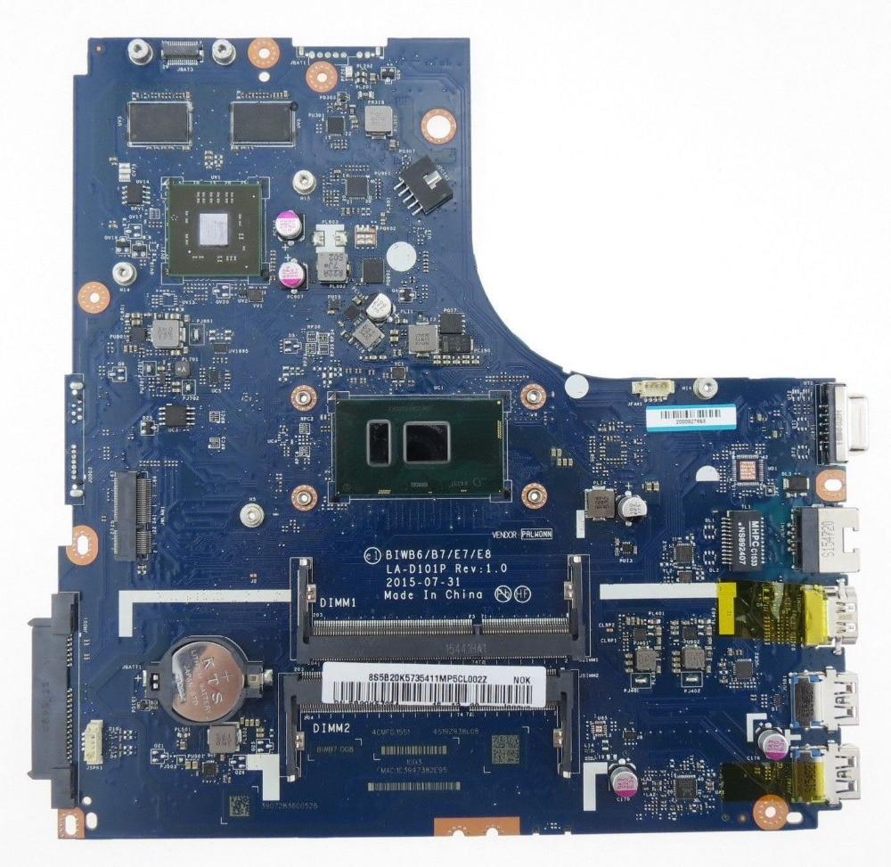 Para Lenovo B51-80 B51 80 portátil placa base BIWB6 B7 E7 E8 LA-D101P i7-6500U Radeon R5 M330 100% prueba ok