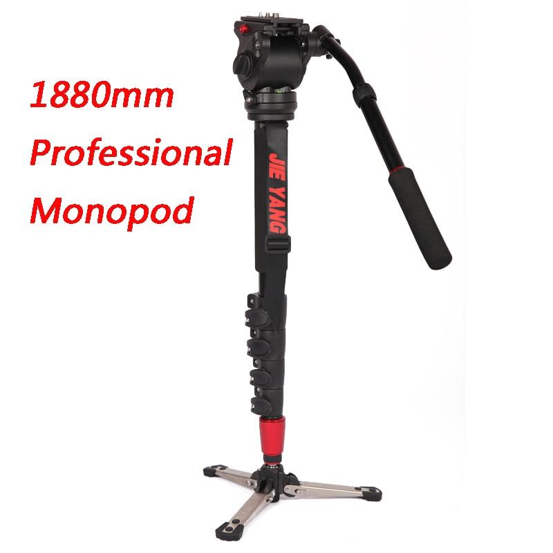 New PROGO JY0506B Professional aluminum Monopod For Video & Camera Tripod Head & Carry Bag JY0506 Upgraded  height 1880mm